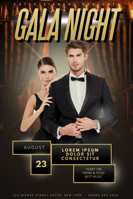 gala prom gold night