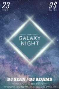 Customizable Design Templates for Galaxy  PosterMyWall