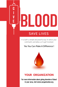 530 Customizable Design Templates For Blood Drive