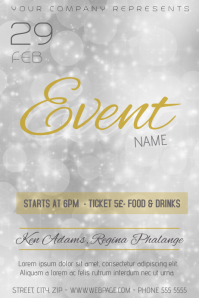 23480 Customizable Design Templates for Gold Event  PosterMyWall