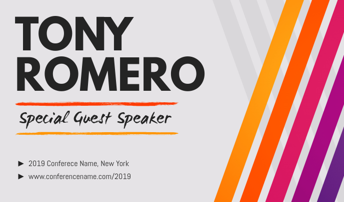 Guest Speaker Event Tag Template Postermywall