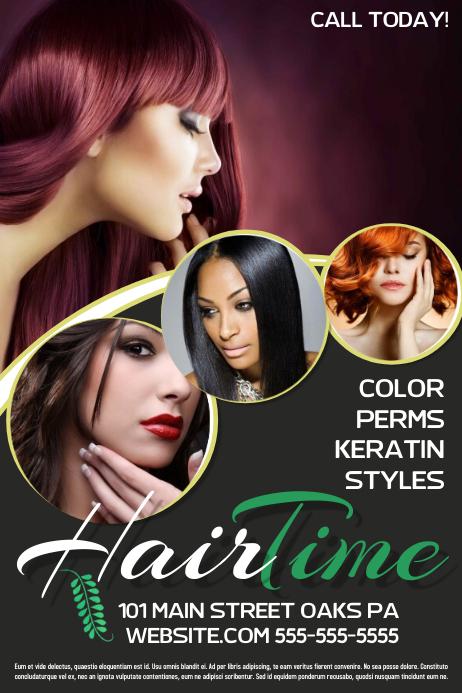 hair salon template postermywall