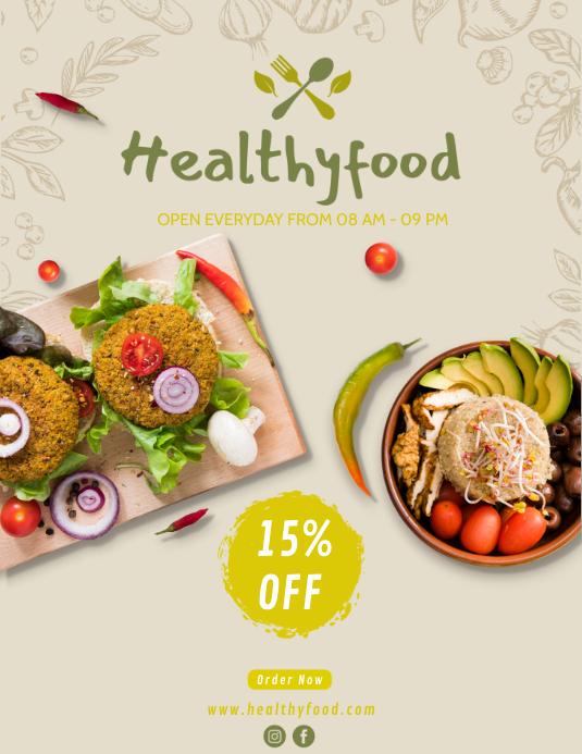 Brosur Makanan Sehat Templat Postermywall