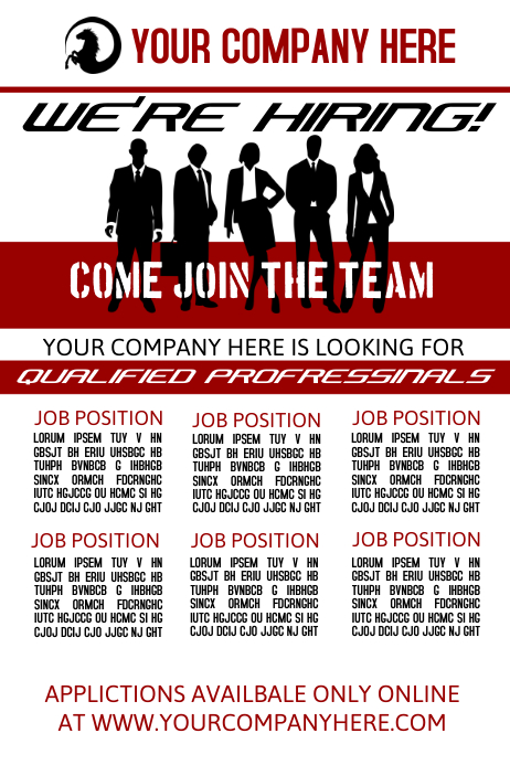We39re Hiring Template PosterMyWall
