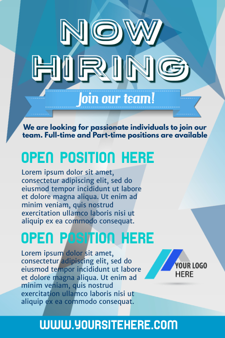 Copy of Hiring Poster Template PosterMyWall