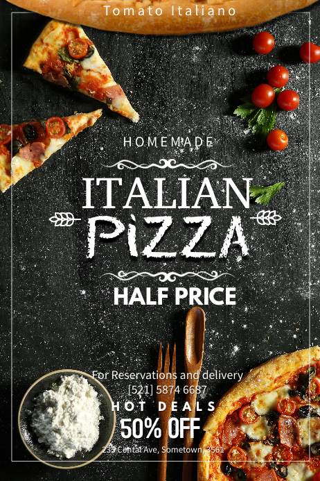 Copy Of Hot Pizza Flyer Template PosterMyWall