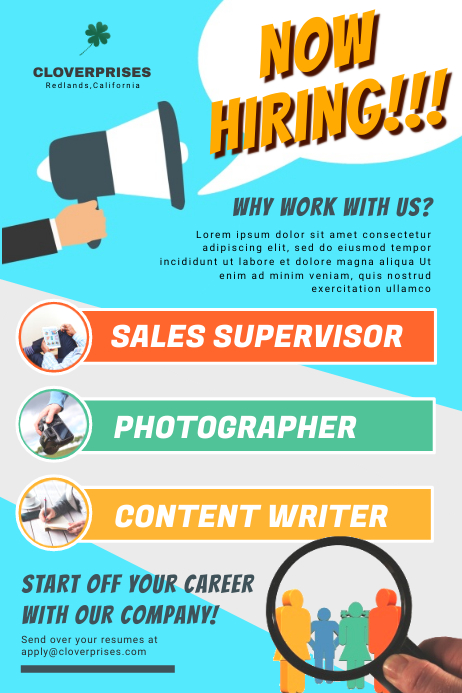 Job Vacancy Poster Template PosterMyWall