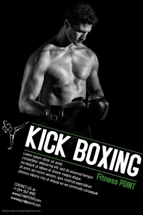 Kick Boxing Template PosterMyWall