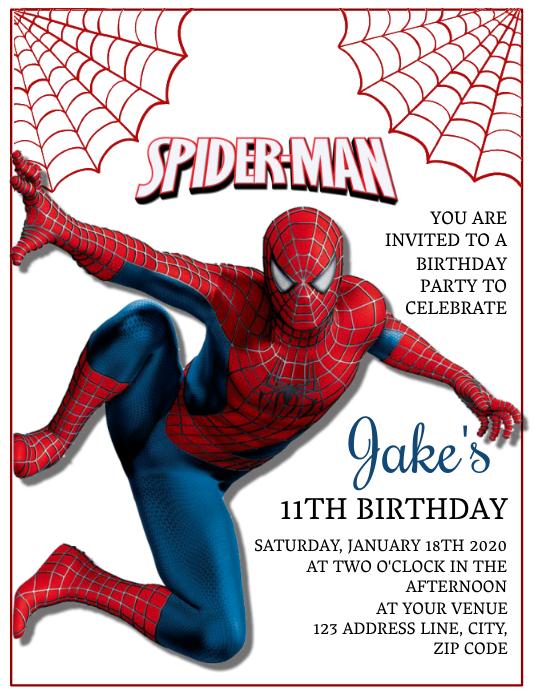 kinder spiderman geburtstag einladung