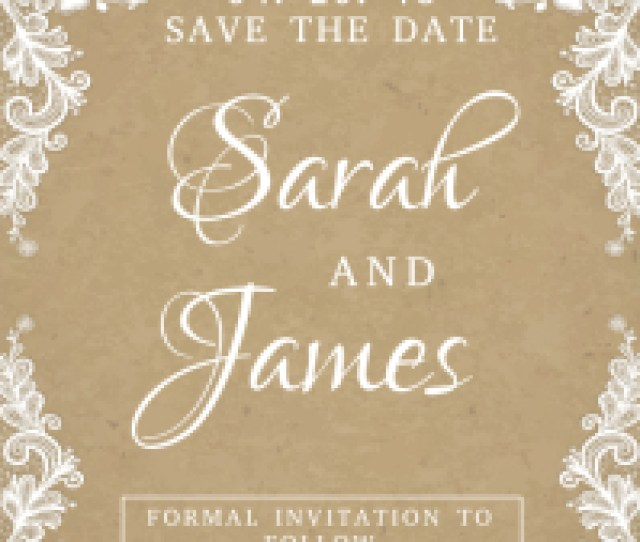 Lacey Save The Date Wedding Card