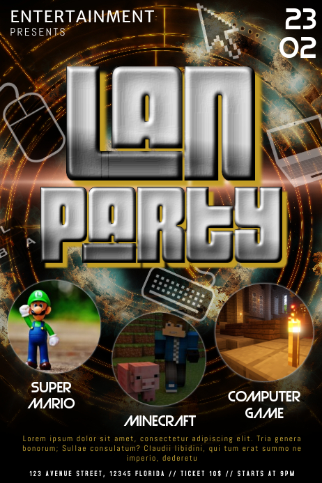 create party flyer online