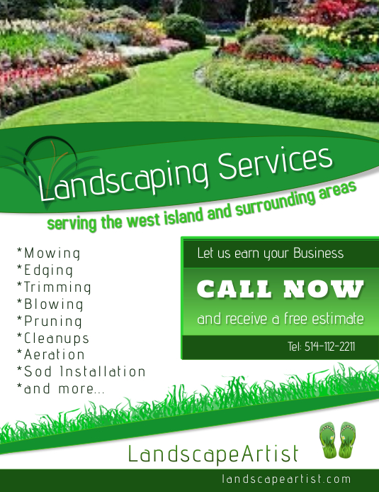 landscaping services template