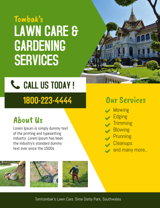 lawn & landscaping service flyer