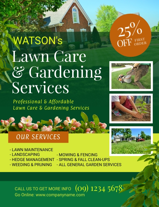 copy of lawn and landscaping flyer