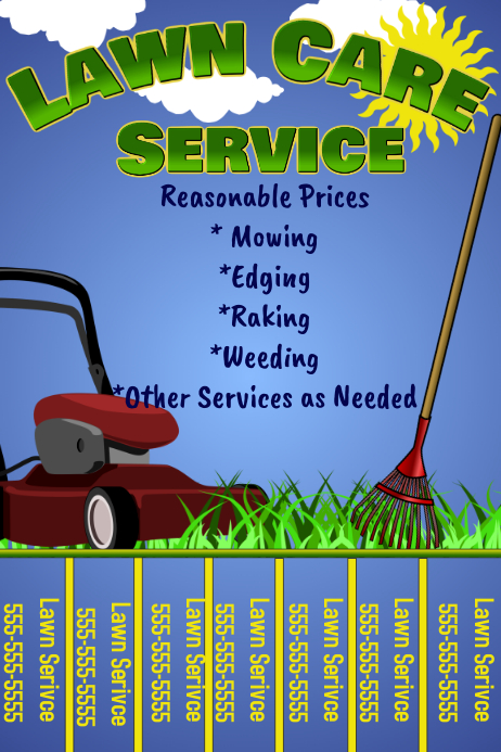 lawn care flyer withtabs template