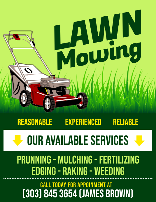 copy of lawn mowing flyer postermywall