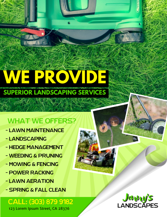 lawn service flyer template postermywall
