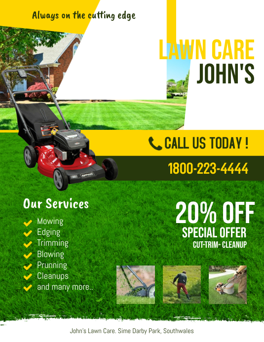 copy of lawn service flyer template
