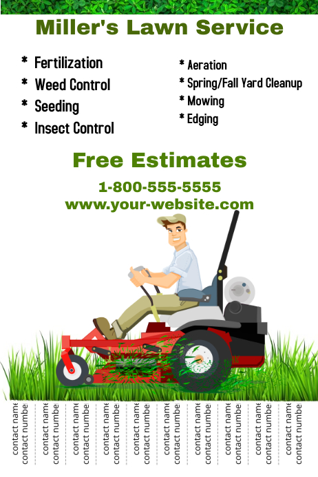 This tool allows managers and owners to effectively assign landscaping maintenance jobs to workers and monitor performance quality. Lawn Service Template Postermywall