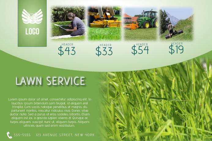 lawn service flyer template landscape
