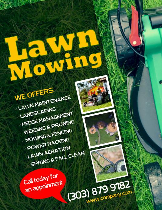 customize 350 lawn service templates