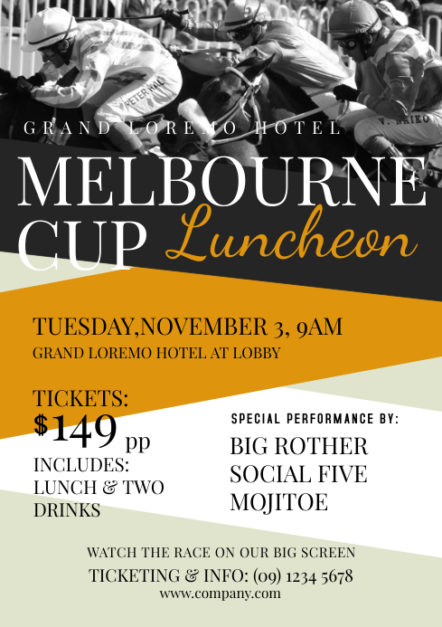 Copy of Melbourne Cup Flyer Template  PosterMyWall