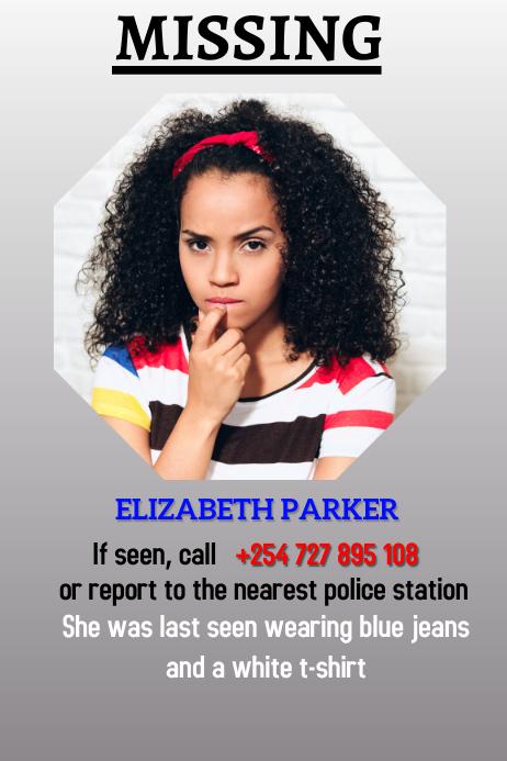 missing person poster vorlage