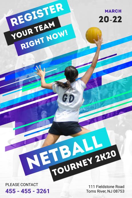 Olahraga Modern : olahraga, modern, Brosur, Netball, Modern, Templat, PosterMyWall