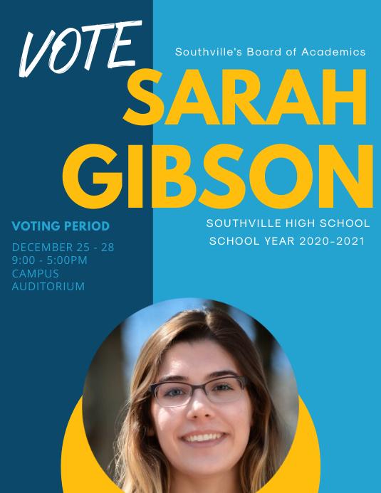 modern school election poster