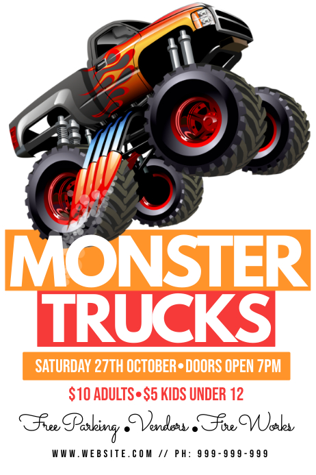 monster truck poster vorlage postermywall