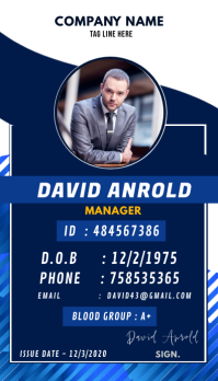 Contoh Desain Id Card Keren : contoh, desain, keren, 9,990+, Customizable, Design, Templates, PosterMyWall