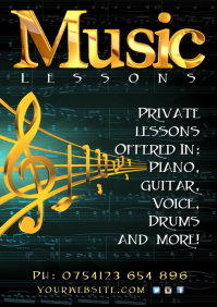 6940 Customizable Design Templates for Music Lessons  PosterMyWall