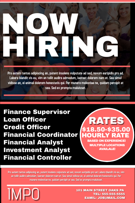 Now Hiring Template PosterMyWall