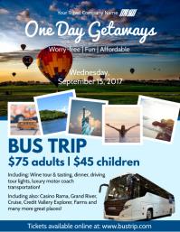 840 Customizable Design Templates For Bus Trip Flyer
