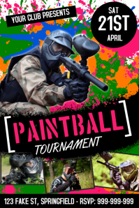 Customizable Design Templates for Paintball  PosterMyWall