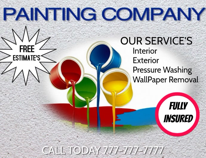 PAINTING COMPANY PAINTER Template   PosterMyWall