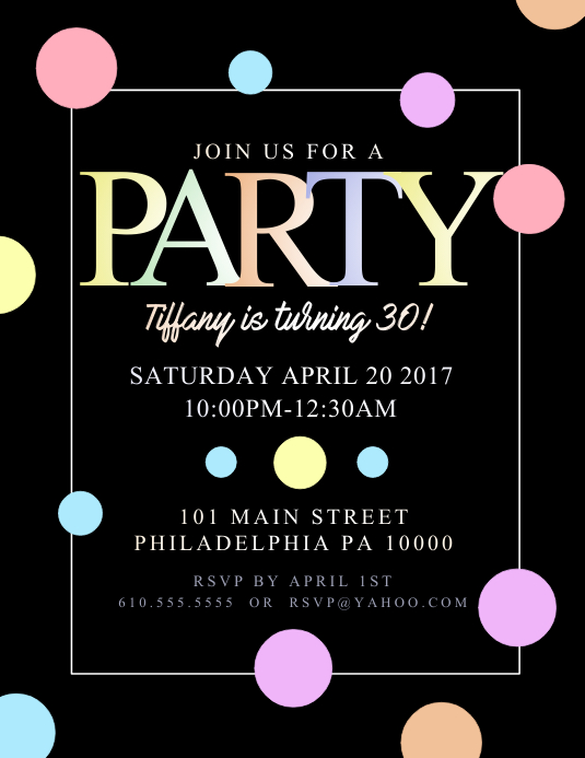 make party flyer online