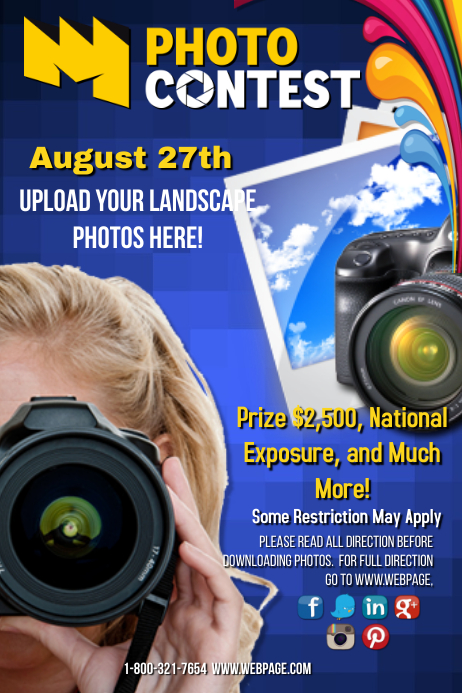 Photo Contest Template Postermywall