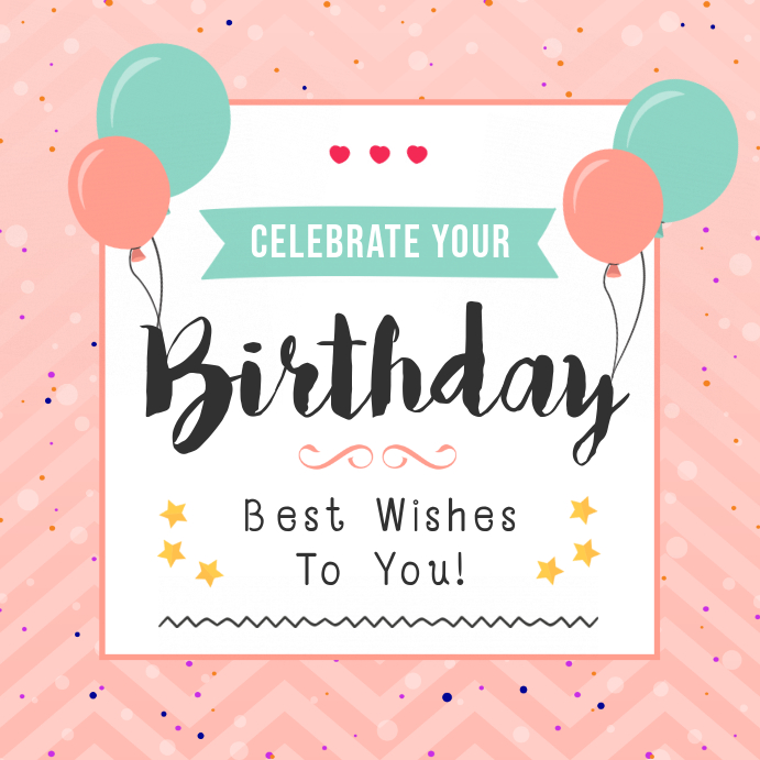 Pink Birthday Wish Instagram Post Template PosterMyWall