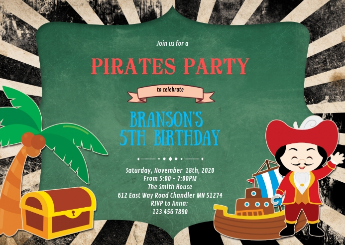 This collection is perfect for you, as a great leap to the party full of joy! Pirates Birthday Party Invitation Template Postermywall