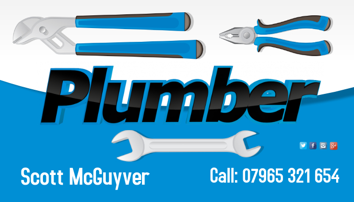 Plumber Business Card Template Postermywall
