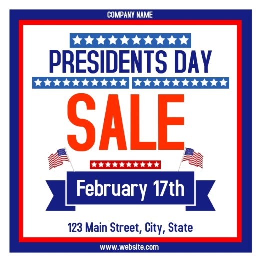 presidents day sales advertisement instagram Template ...