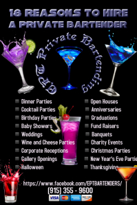 Customizable Design Templates for Bartender  PosterMyWall