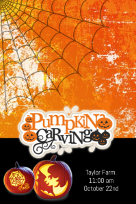24370 Customizable Design Templates for Pumpkin Carving Flyer  PosterMyWall
