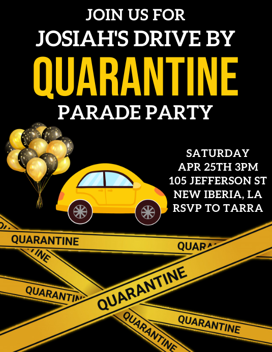 quarantine birthday parade party