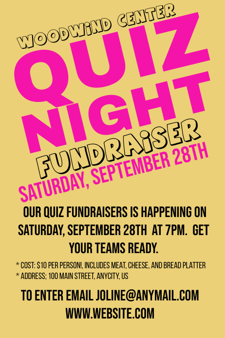 Quiz Night Template PosterMyWall