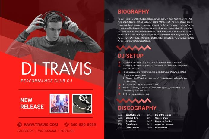 This includes announcing a new album, a new artist,. Templat Templat Poster Kit Pers Musik Elektronik Merah Postermywall