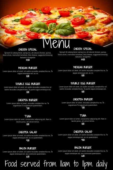 Copy of Restaurant Bar Menu Template  PosterMyWall
