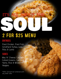 Customizable Design Templates for Soul Food  PosterMyWall