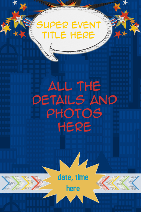 create flyer template